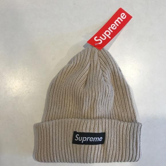 Supreme Accessories - TEMP PRICE DROP! NWT Supreme Beige Tan Beanie Hat b3bfd2f62e1